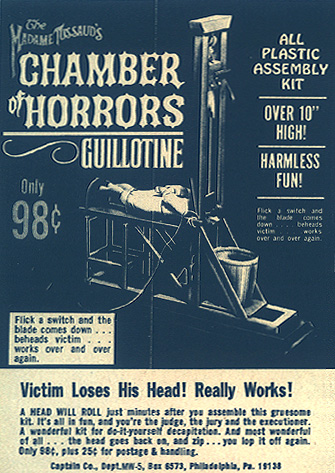 Aurora madame tussaud s chamber of horrors guillotine model ad
