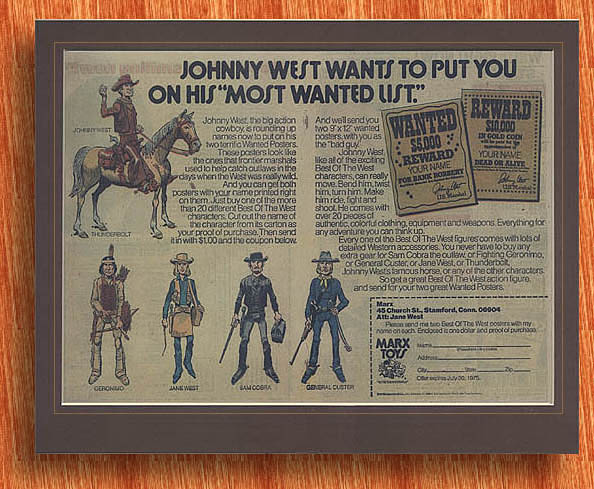 Marx Johnny West 2 Page Ad